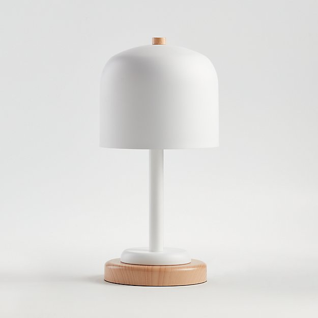 White Modern Dome Touch Table Lamp