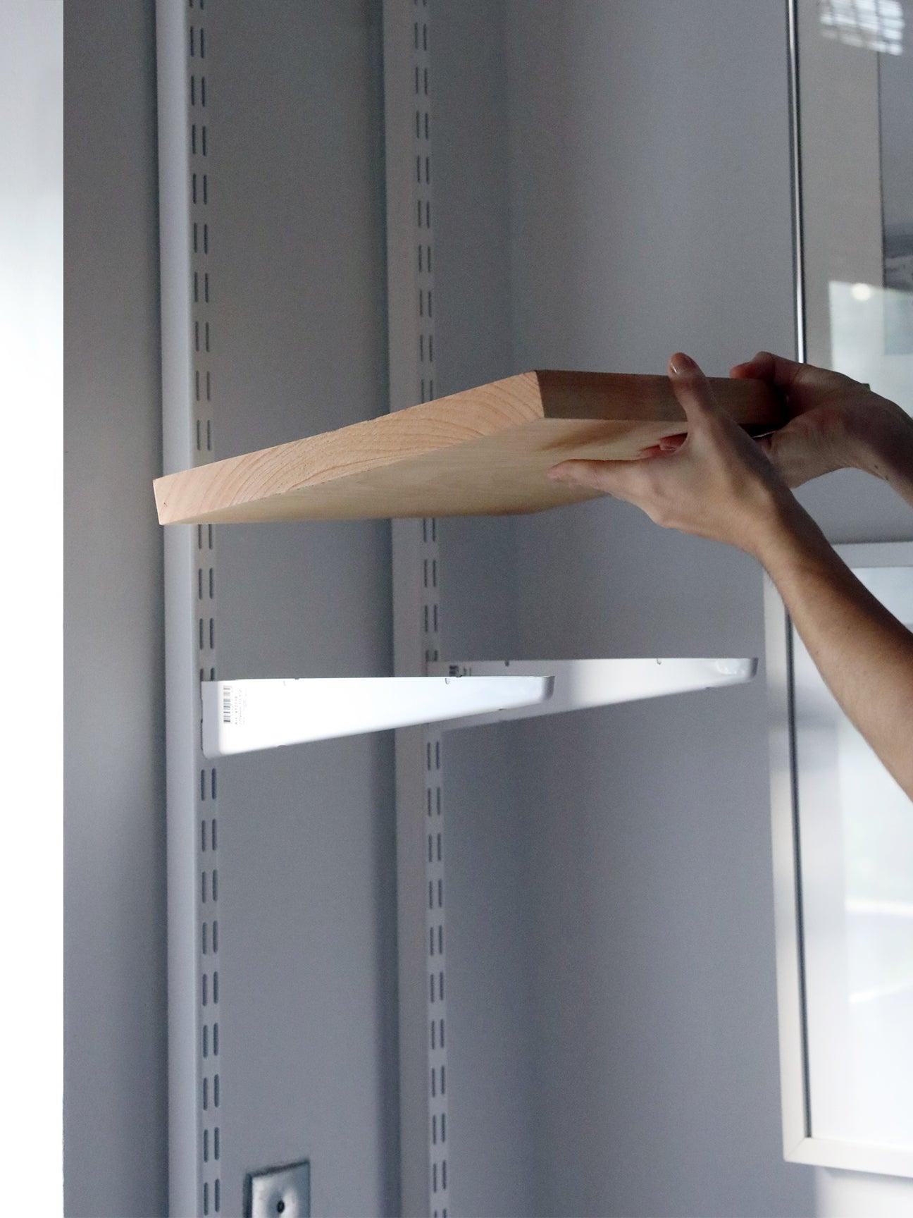 wood shelf going on a bracket