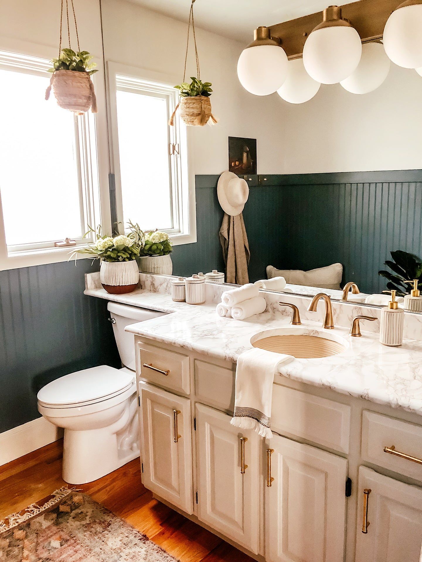Can You Spot the 2 DIYs in This Bathroom Transformation?