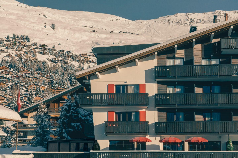 ski lodge in Switzerland