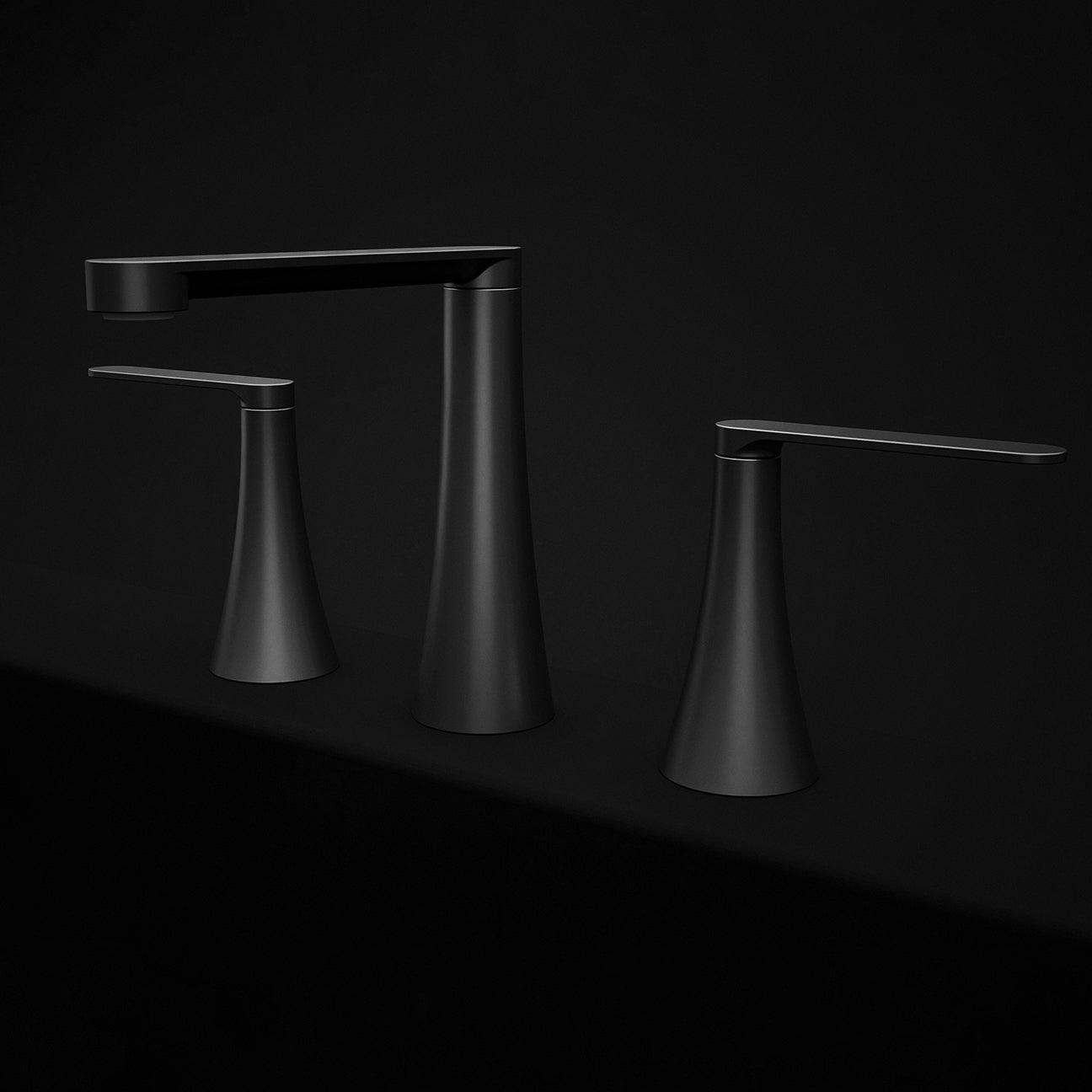 black sink faucet
