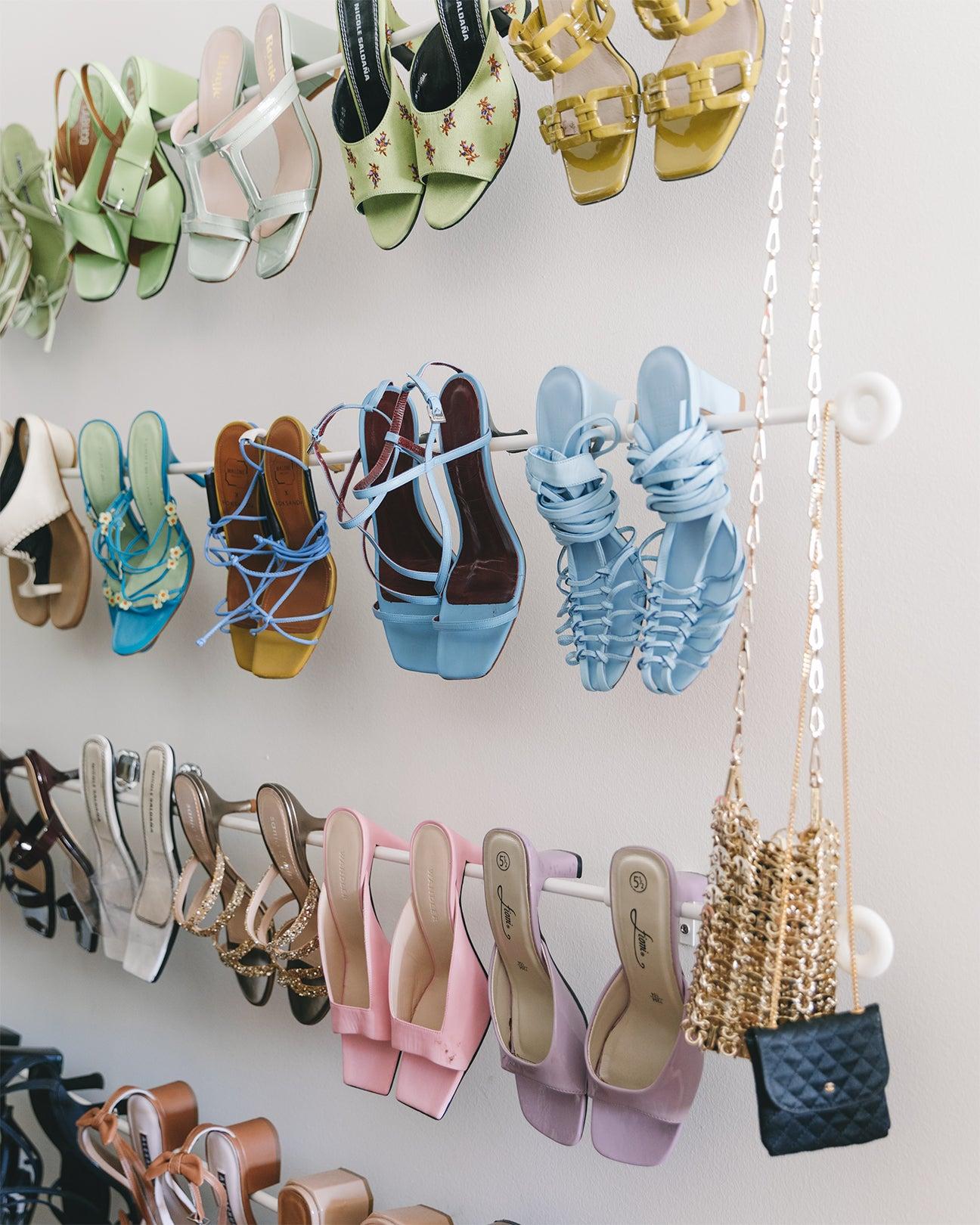 rainbow assortment of shoes
