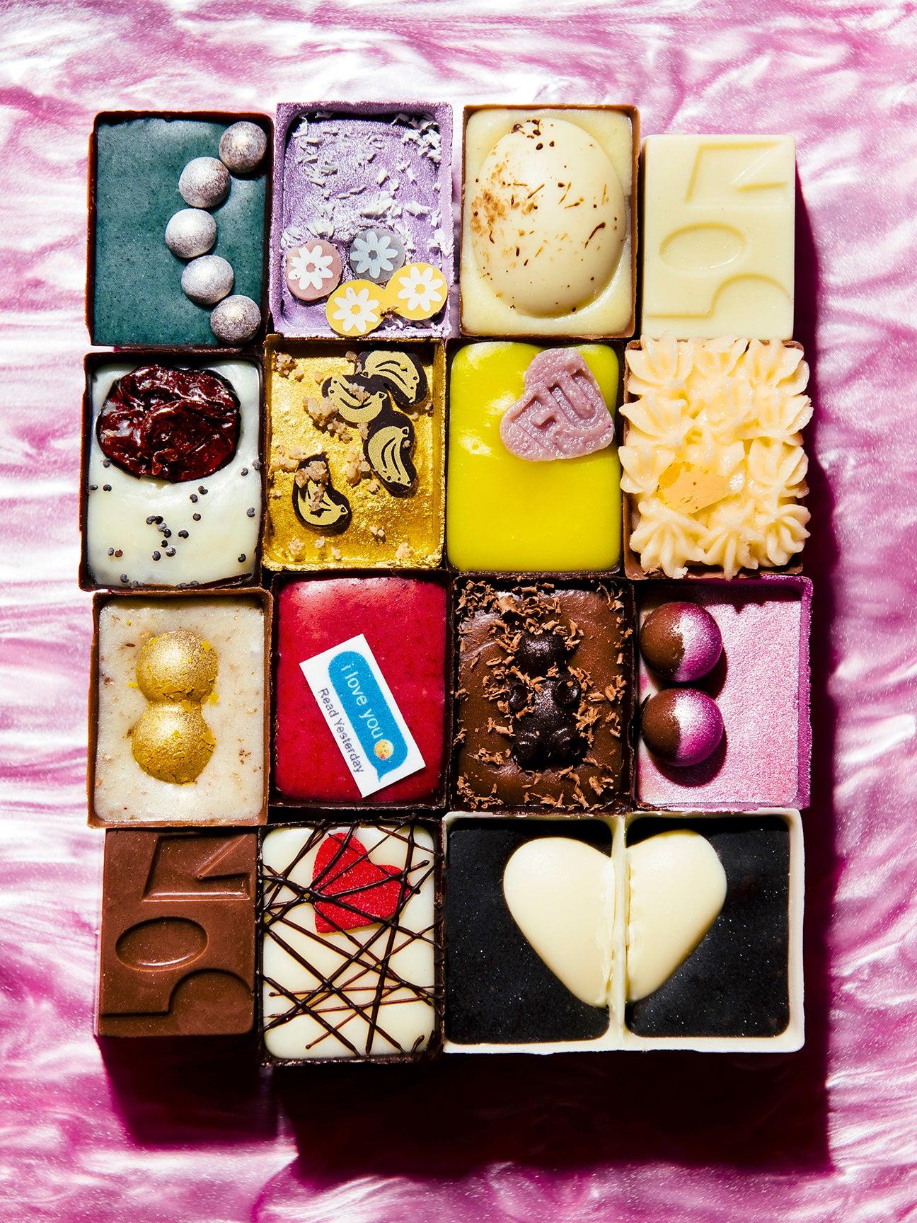 Colorful chocolates