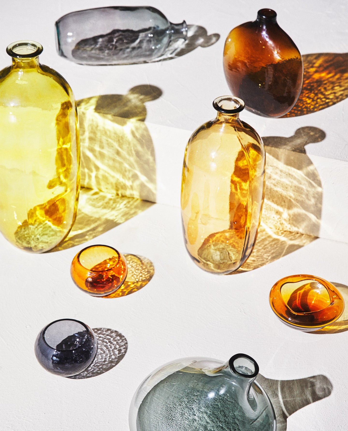 colorful glassware flatly