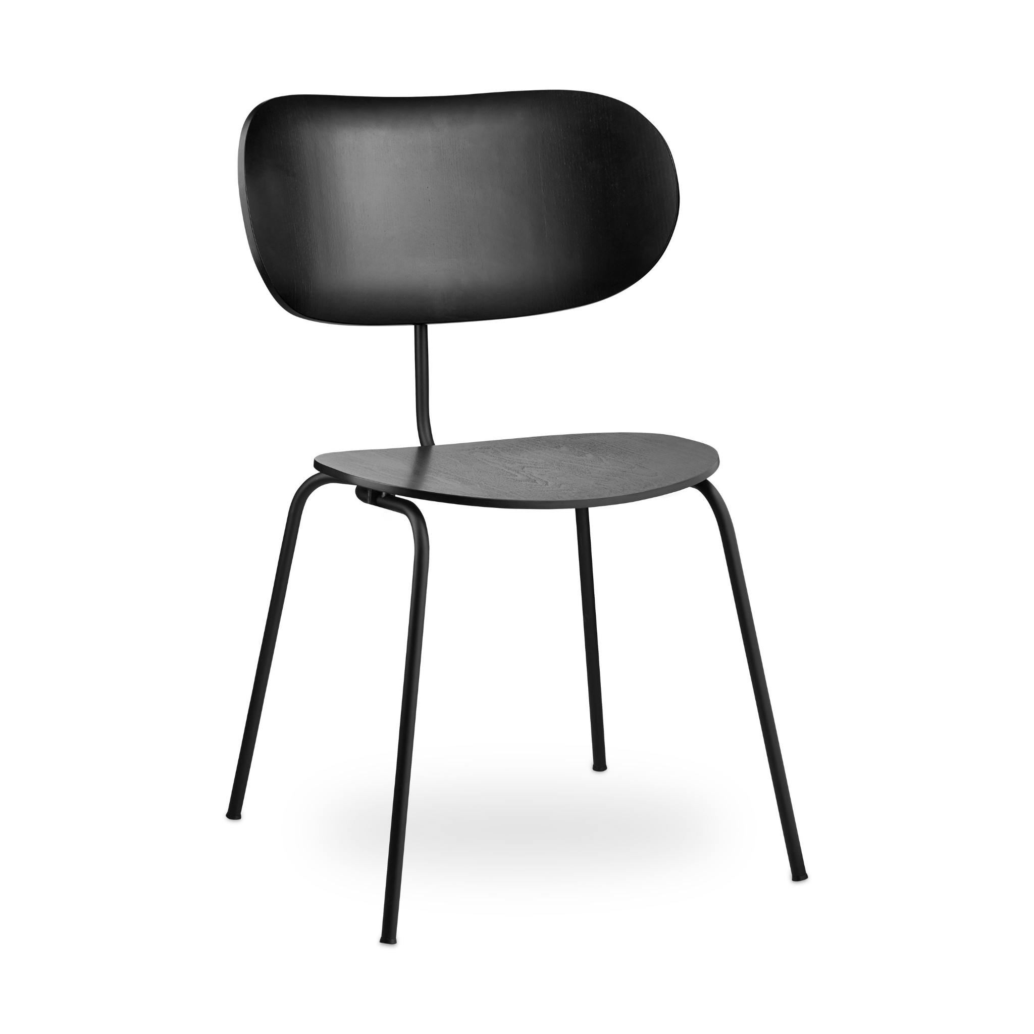 Simple black chair