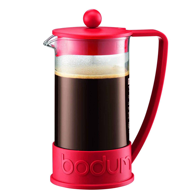 Red Bodum French press