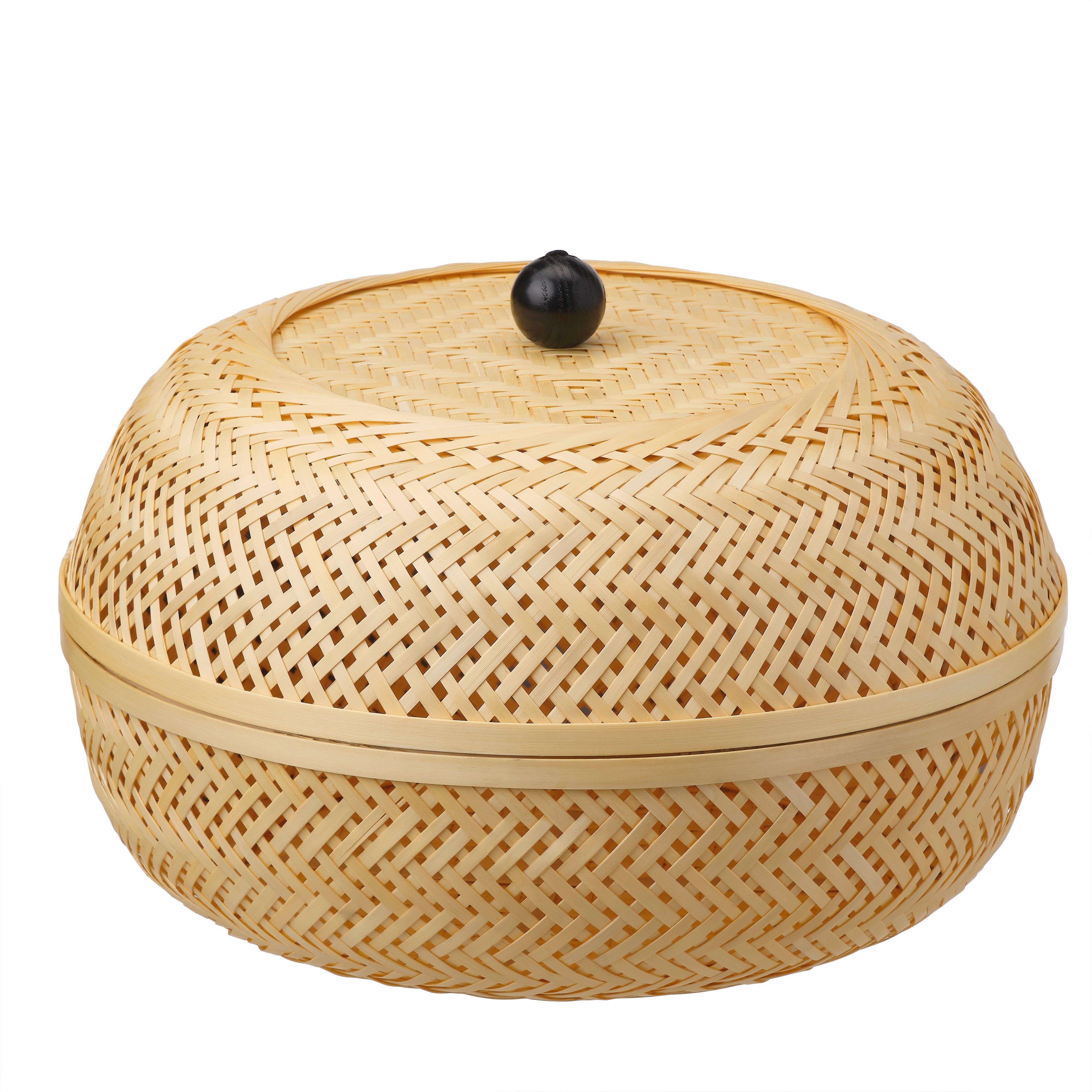 short bamboo basket