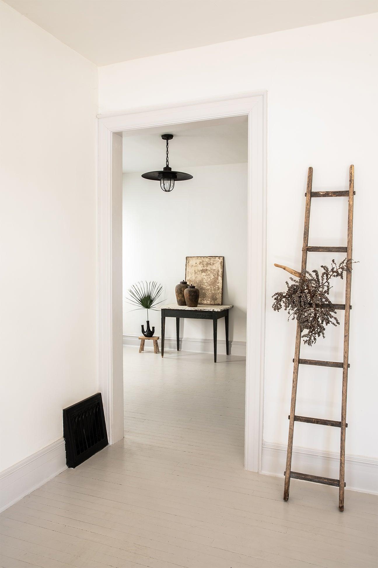 whitewashed entryway