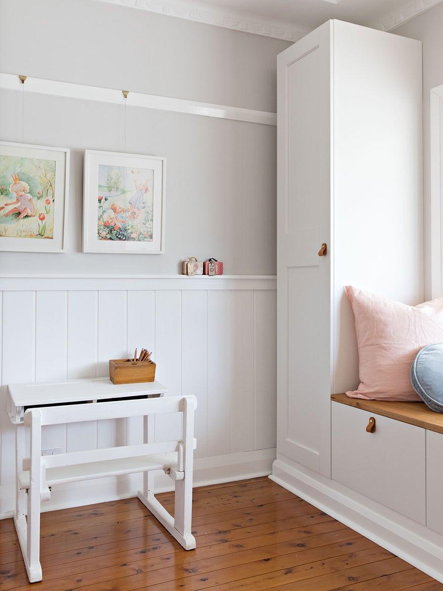 white nursery workspace