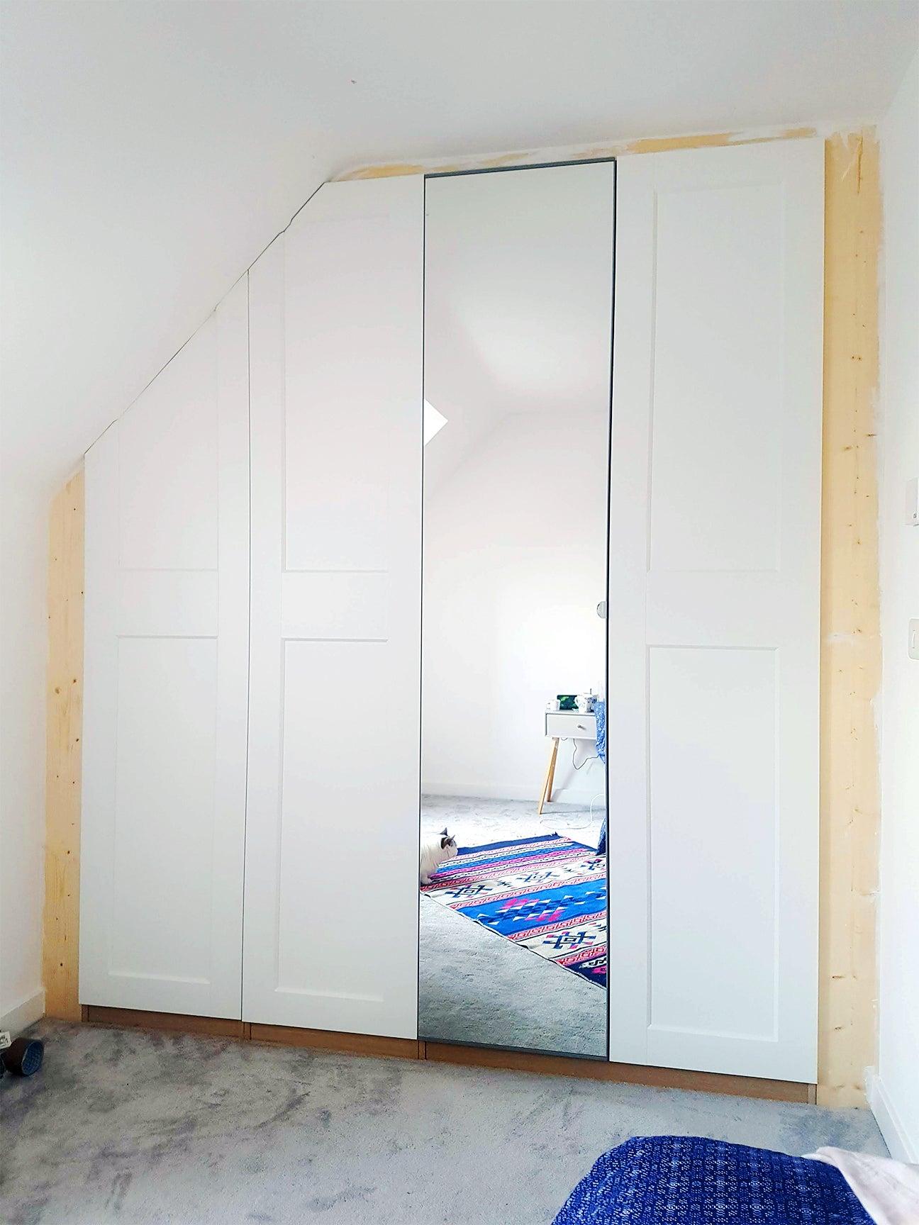 white closet installation
