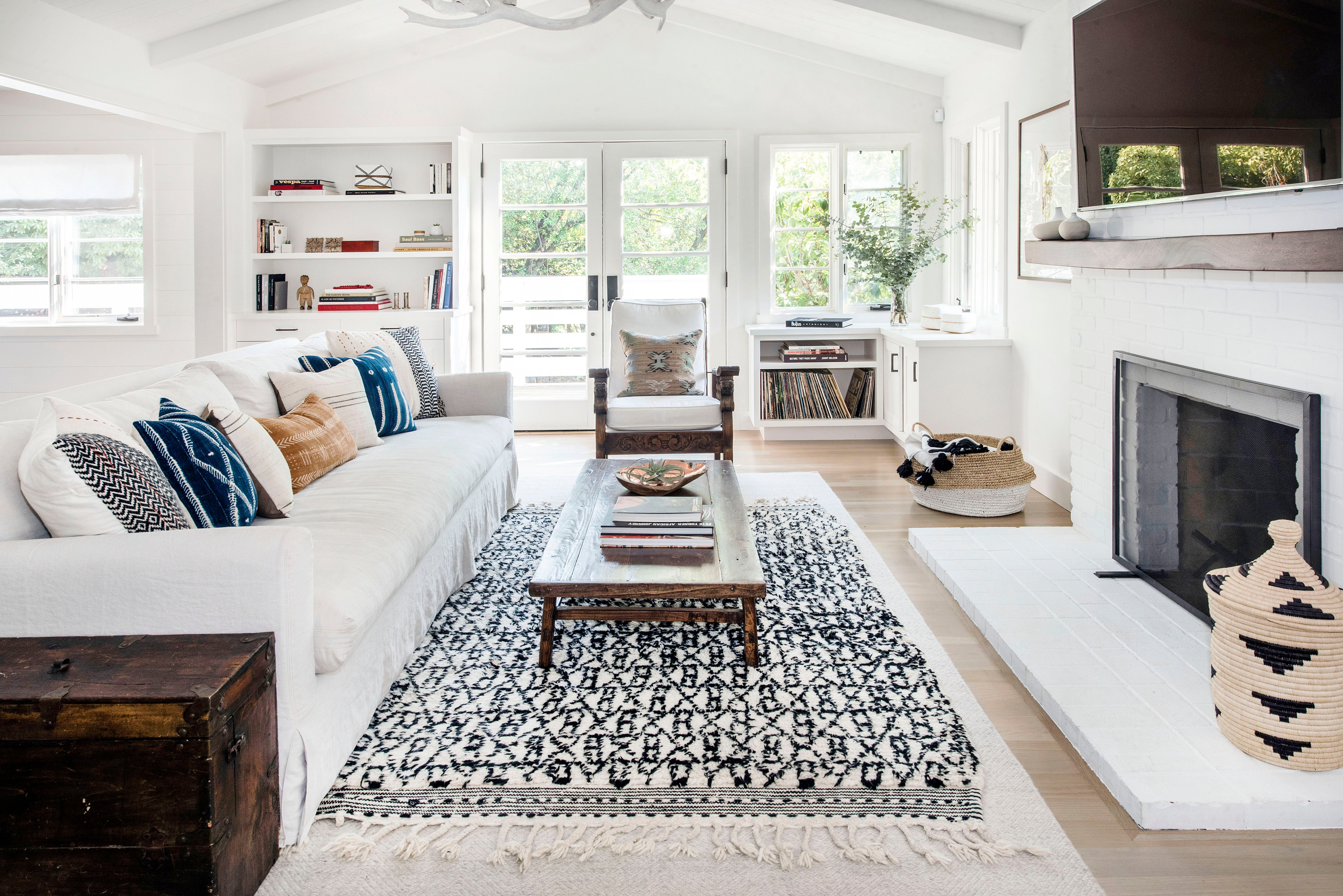 layered moroccan rugs