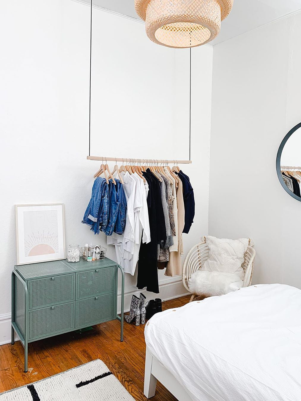 How To Diy A Ceiling Mounted Clothes Rack In 3 Easy Steps