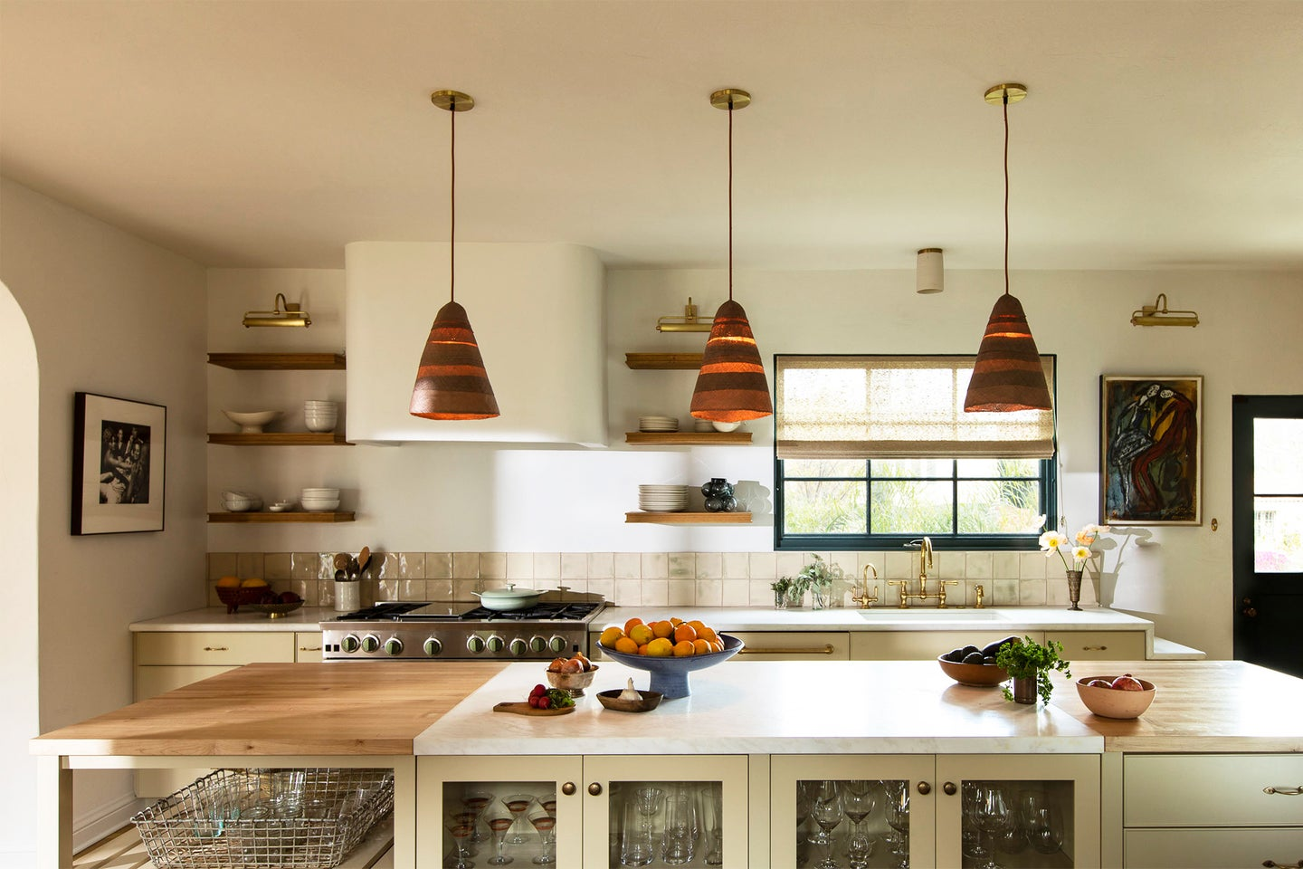 spanish style kitchen with marbel counters