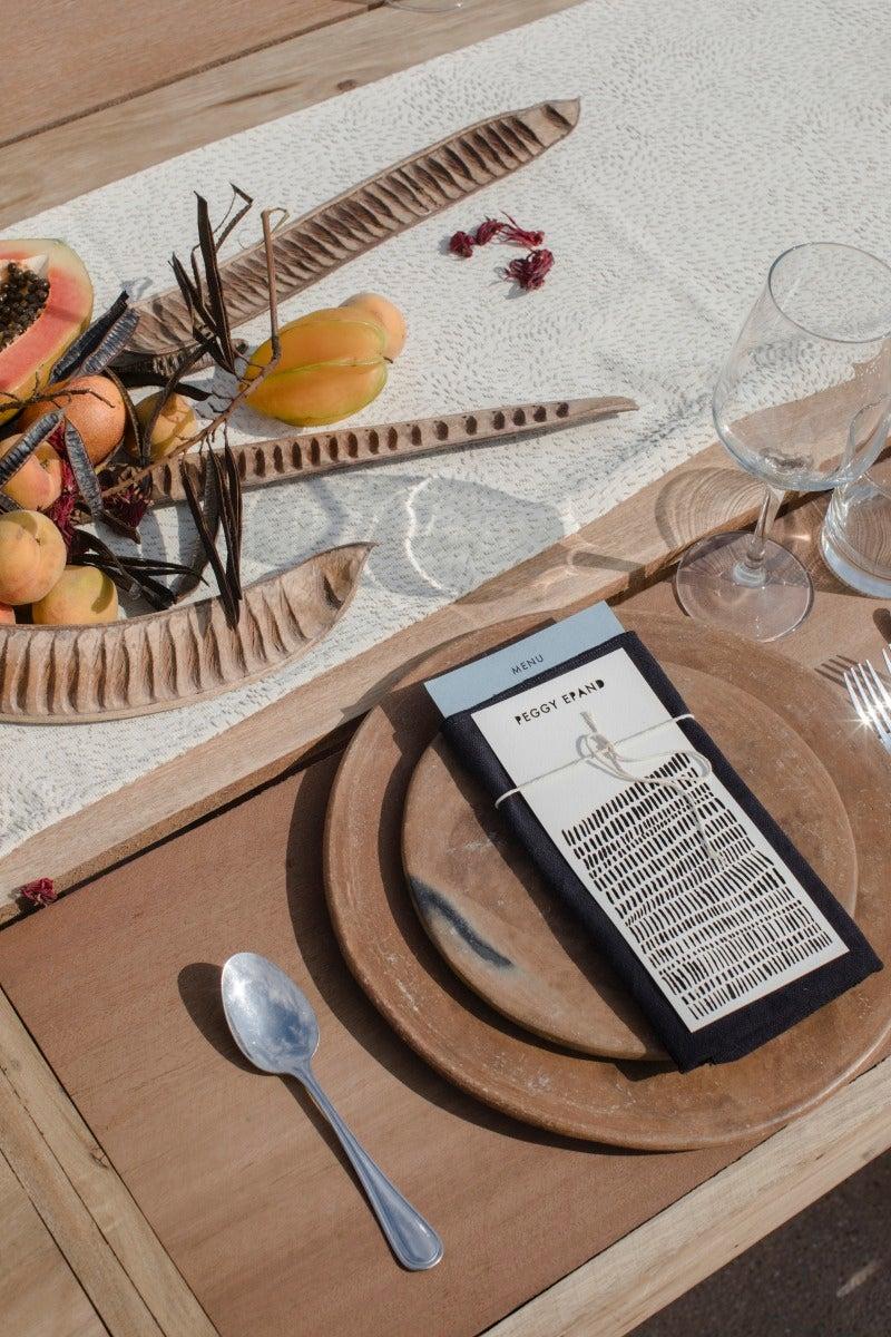 wood table setting