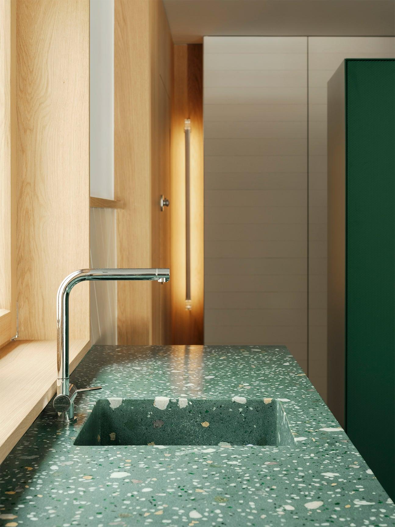 terrazzo green sink