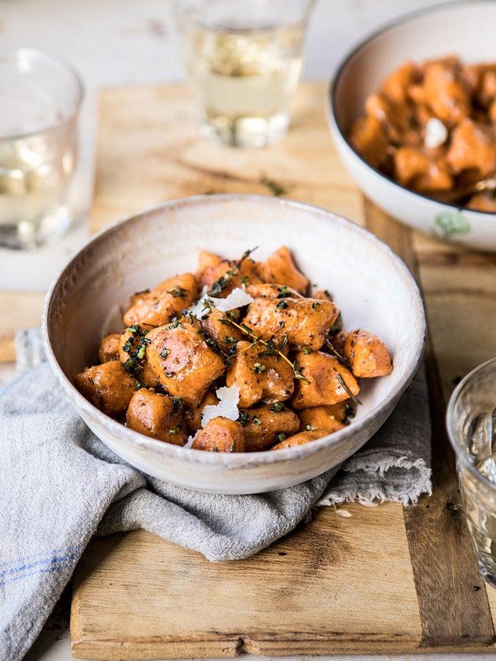bowl of sweet potato gnocchi