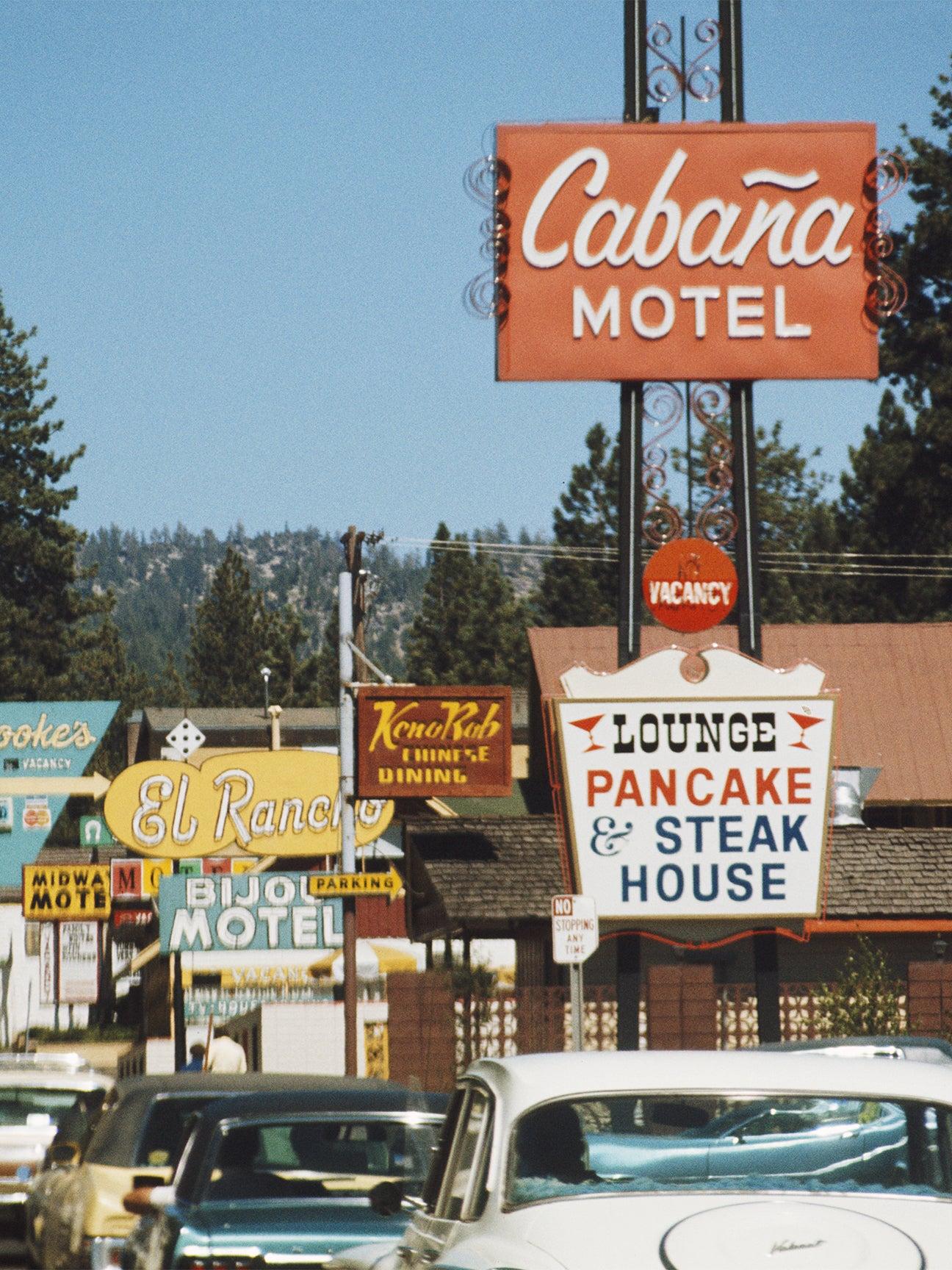 Retro motel signs