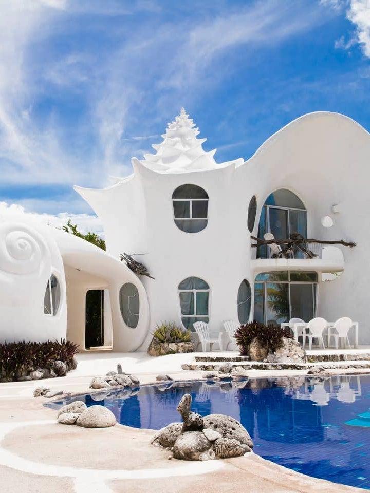 Shell-shaped home