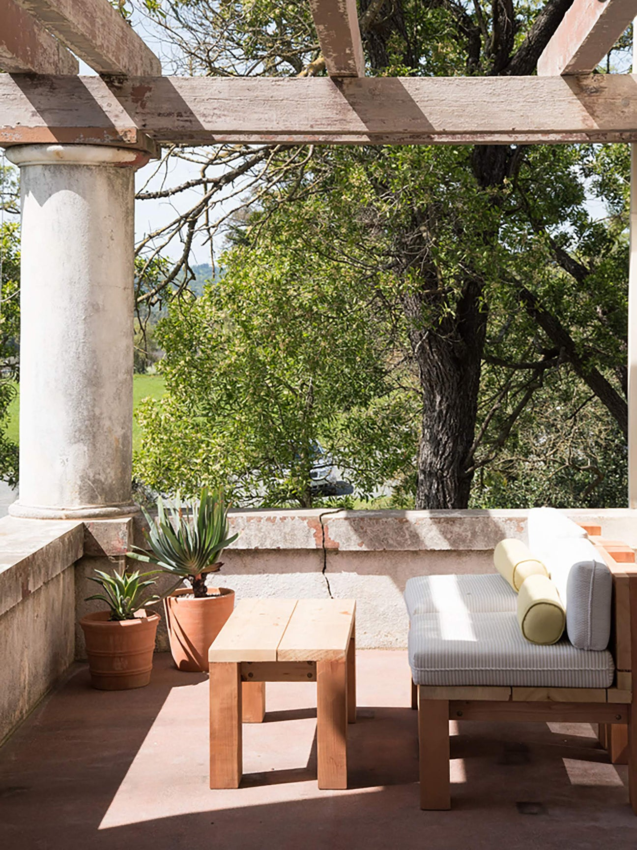 outdoor porch with seating area