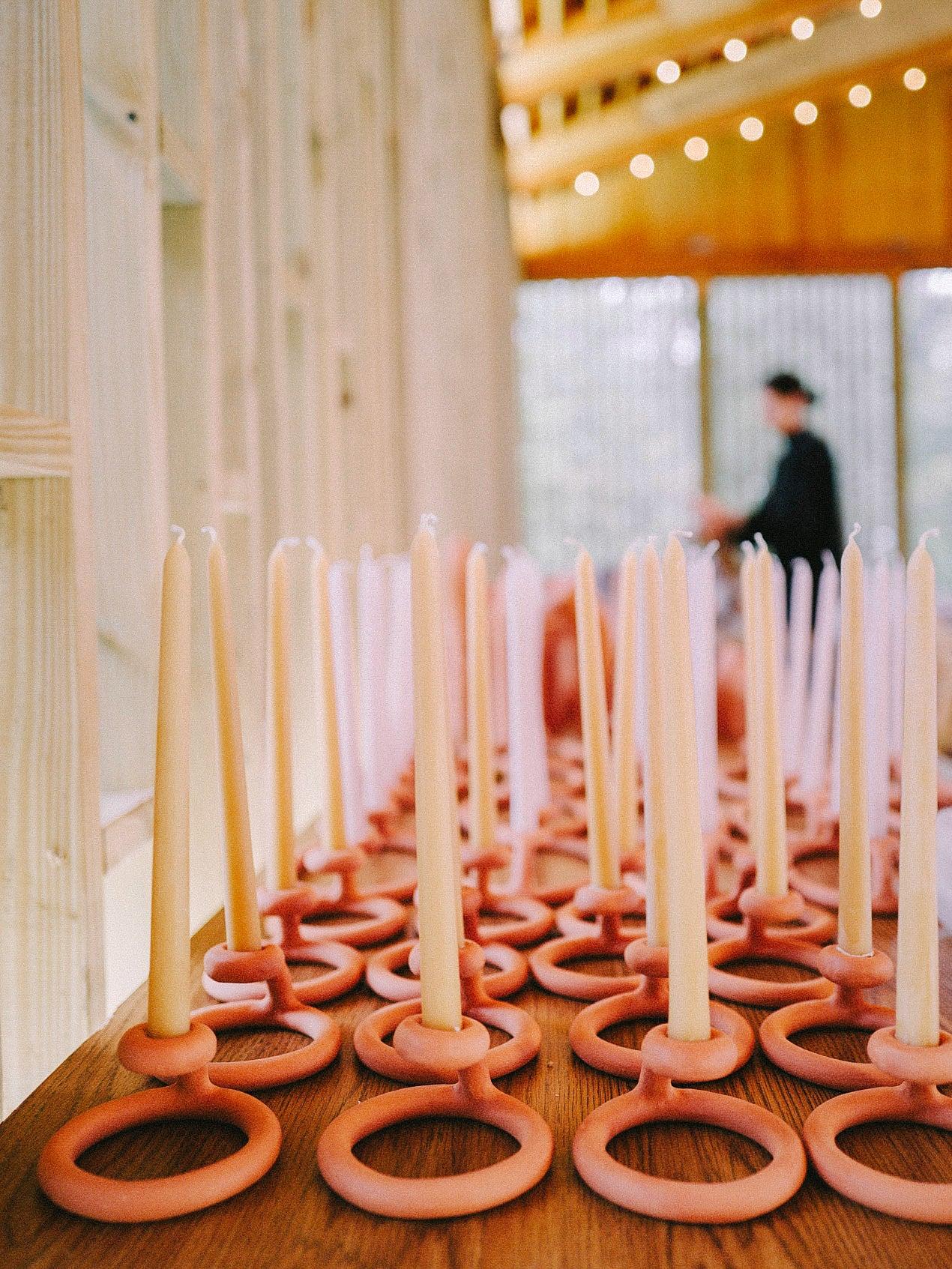 blush pink candles