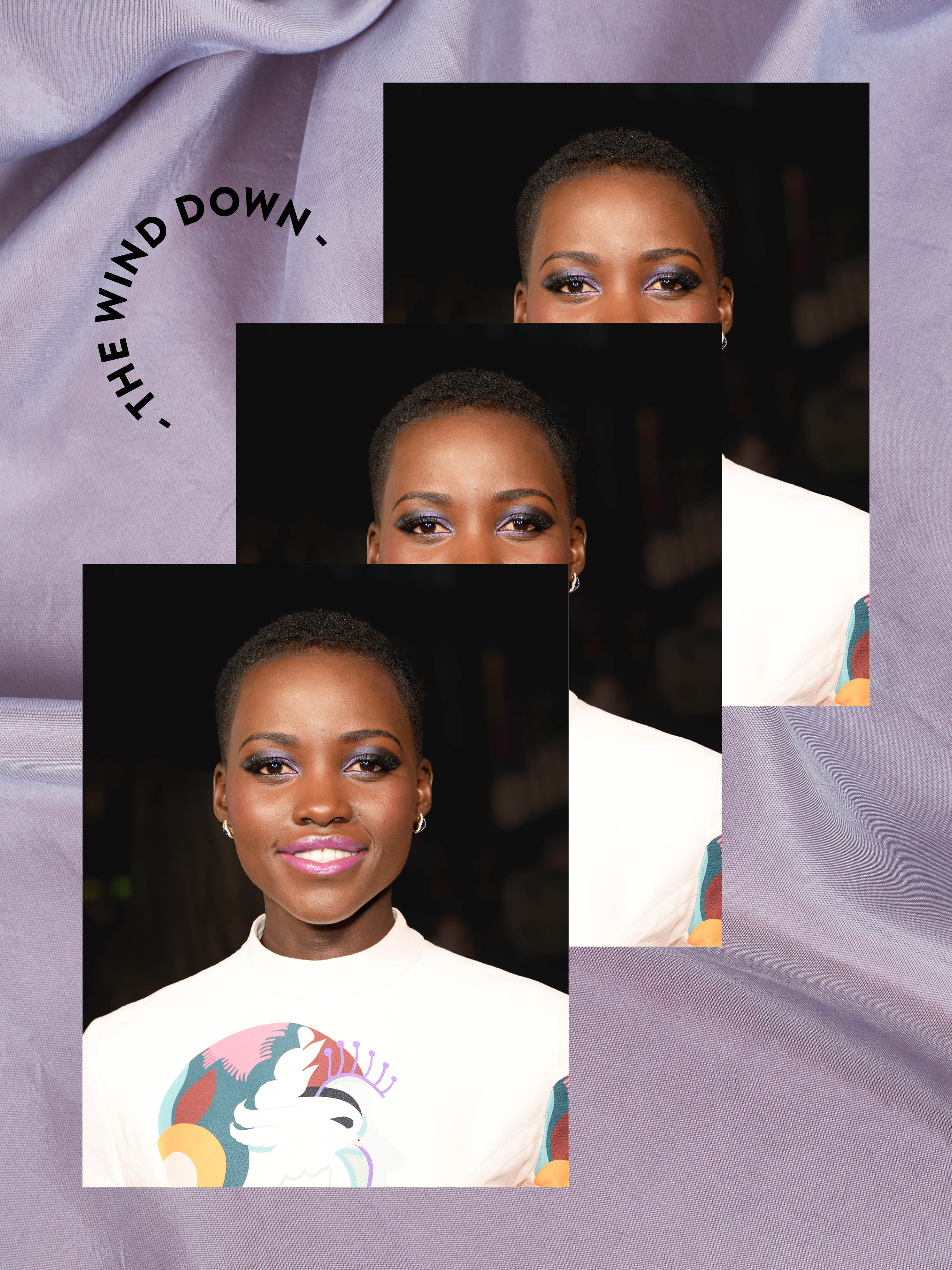 Lupita Nyong'o's Travel Routine Ends With a Foot Bath