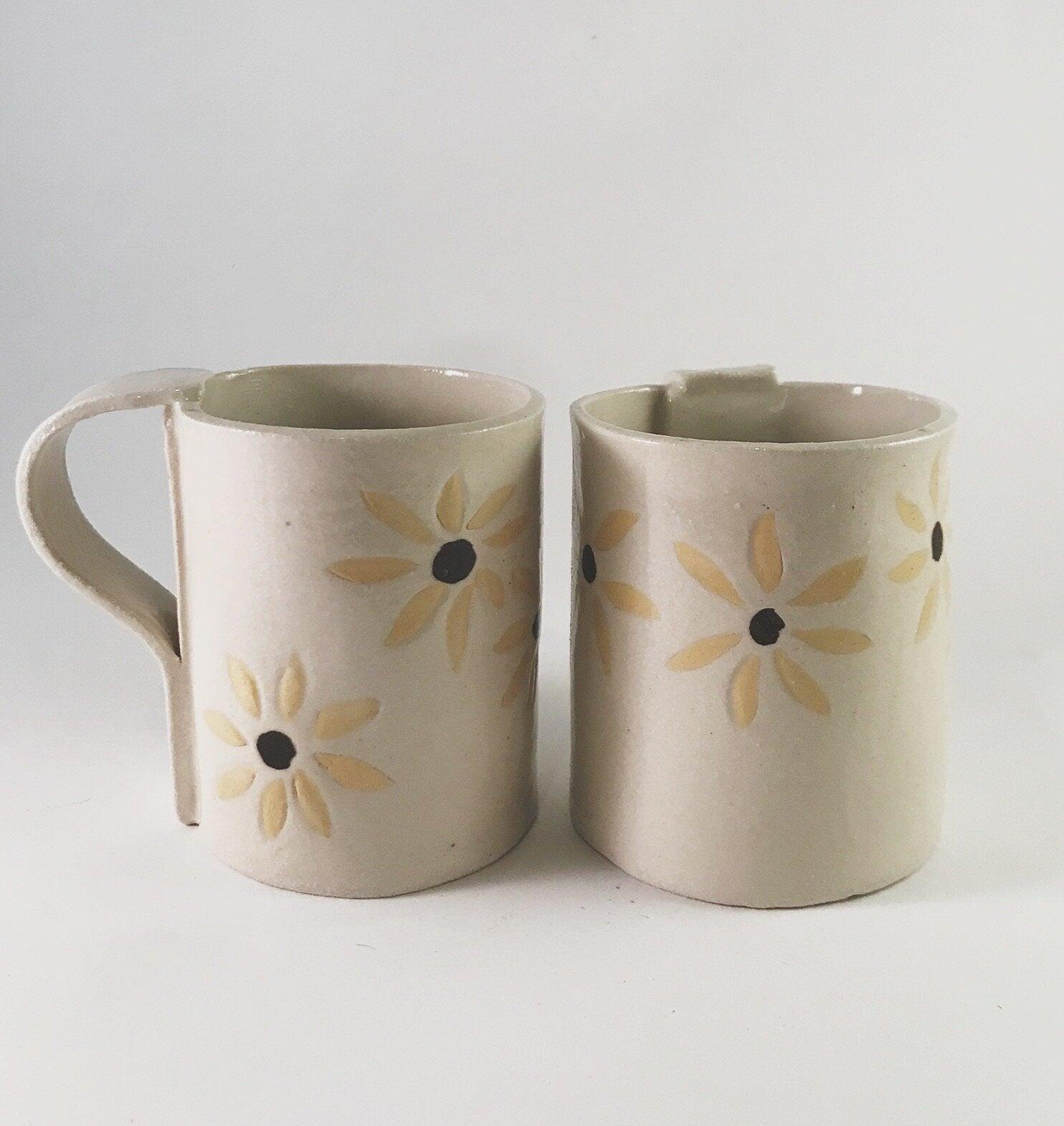White Flower Mugs