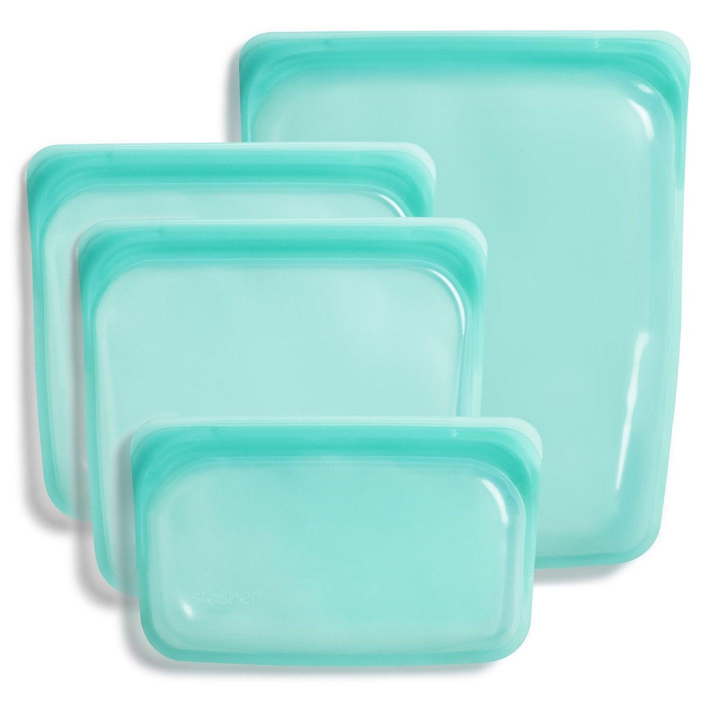 Aqua reausable Stasher bags
