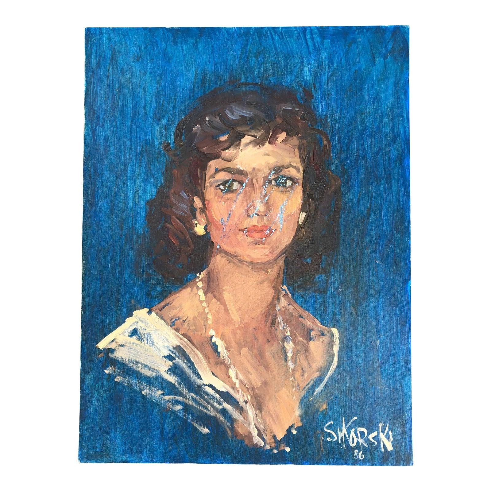 vintage-acrylic-portrait-of-a-woman-4359