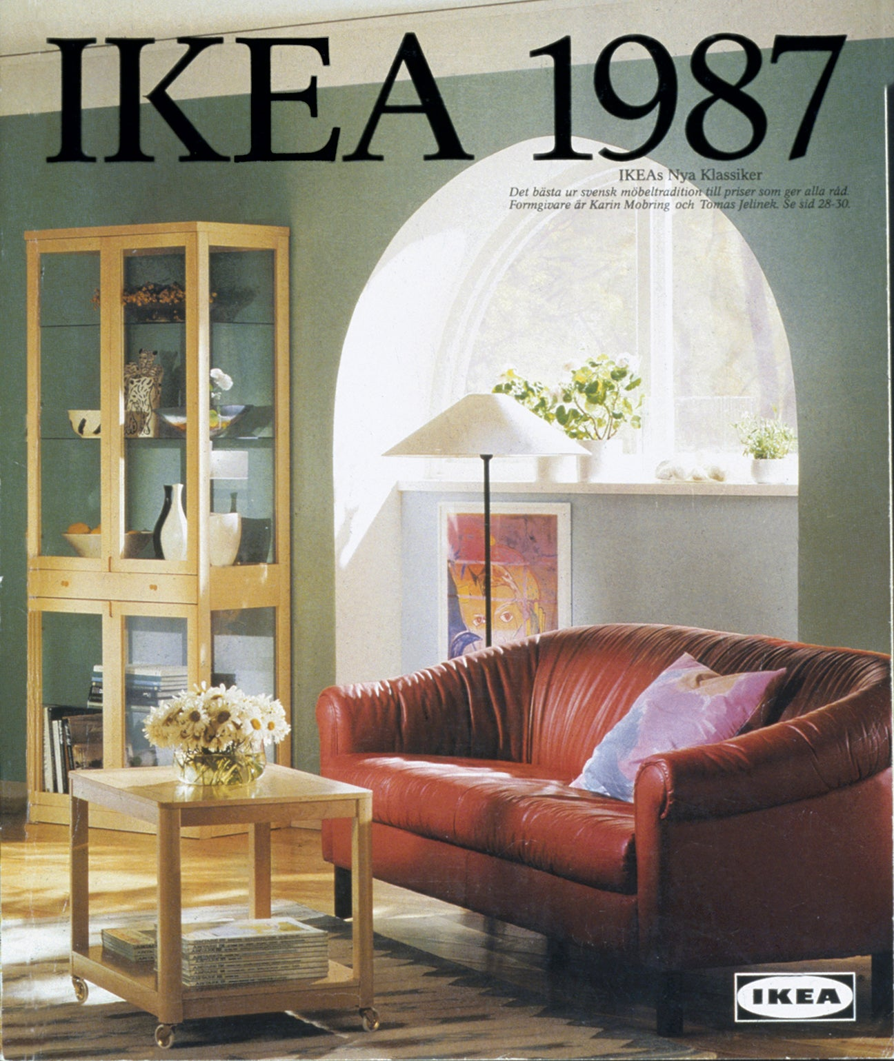 old ikea catalogue cover with arched window nook