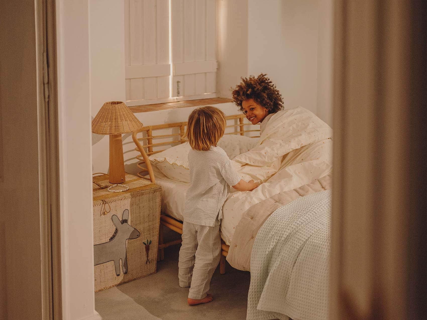kids in nursery bedroom