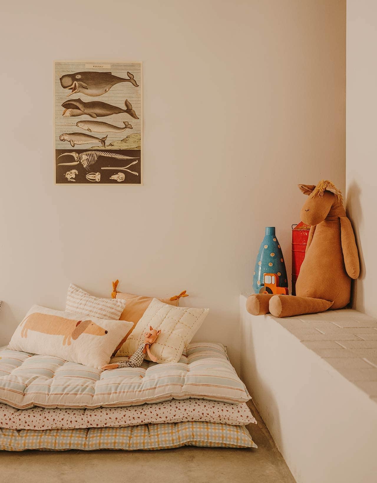 stacked mattresses nook