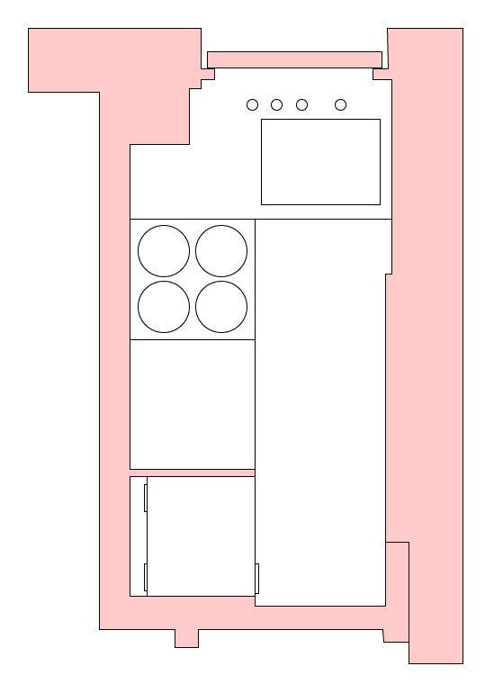 Small NYC kitchen layout