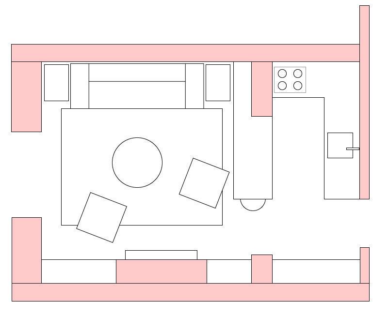 Small apartment kitchen layout