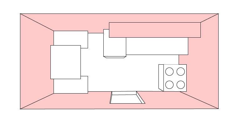 Small rental kitchen layout