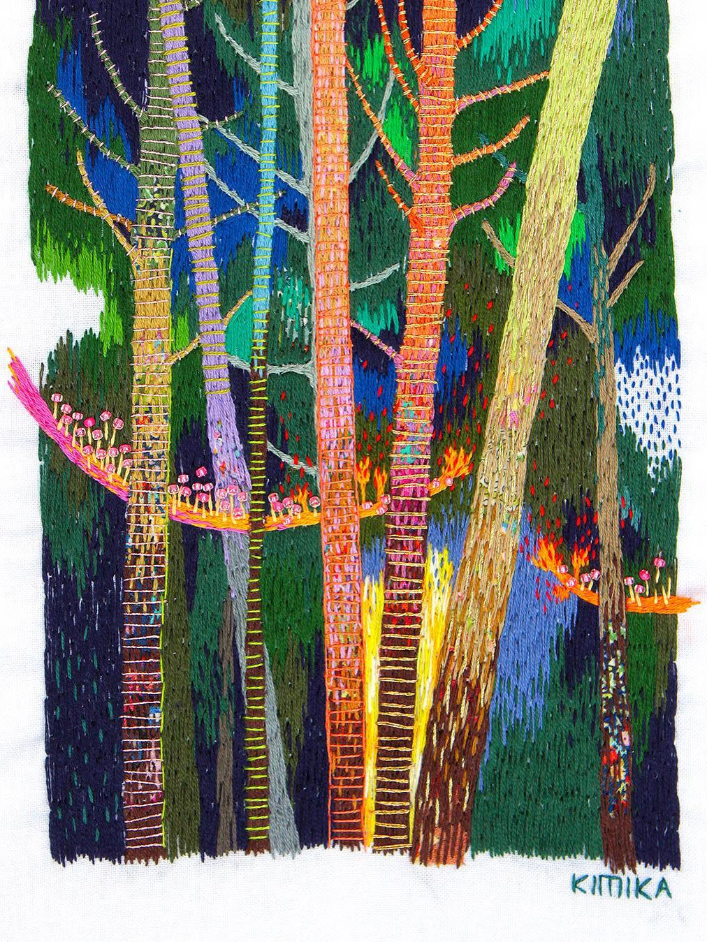 Embroidery art of forest