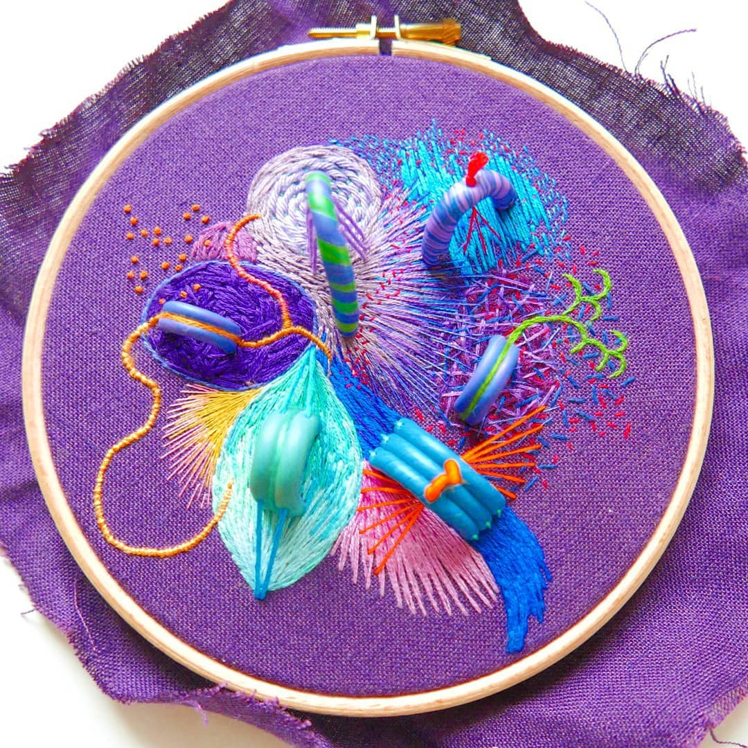 3D embroidery art