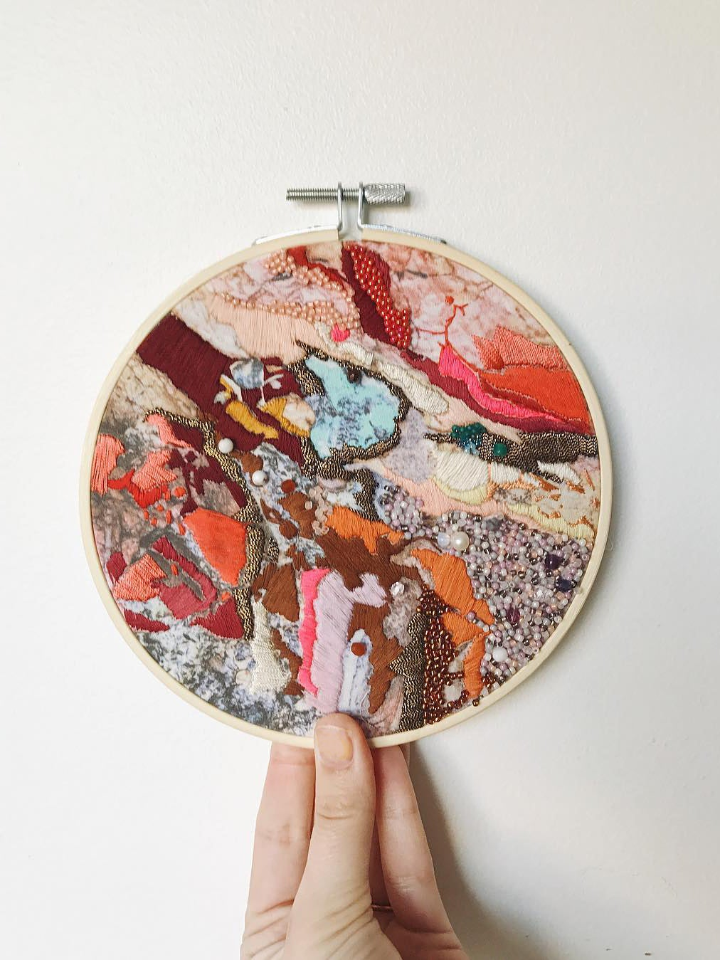 Natural-inspired embroidery art