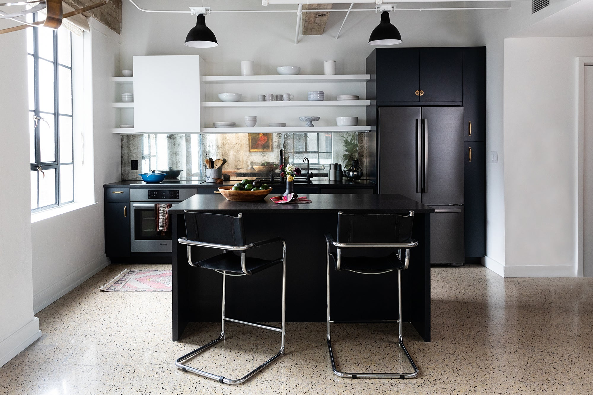- The Antique Mirror Backsplash In This Art Deco Kitchen Opened Up