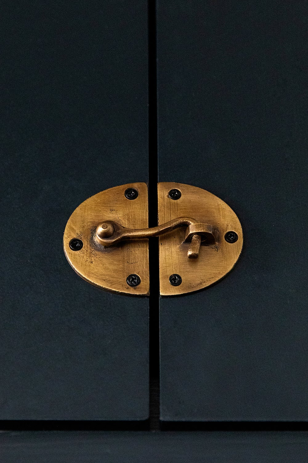 detail of brass latch