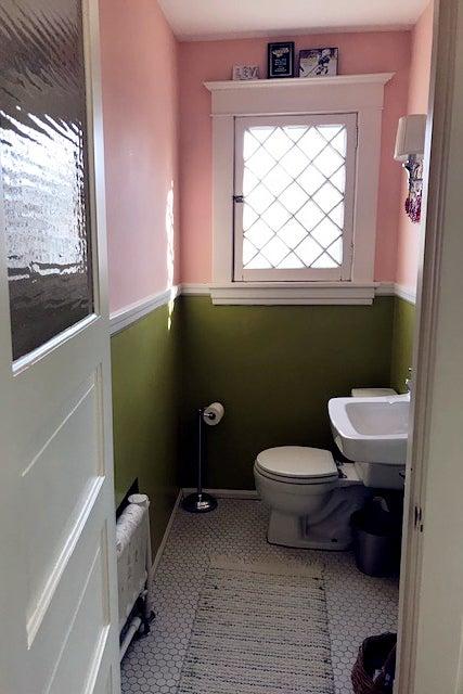 Before: Cramped Bathroom