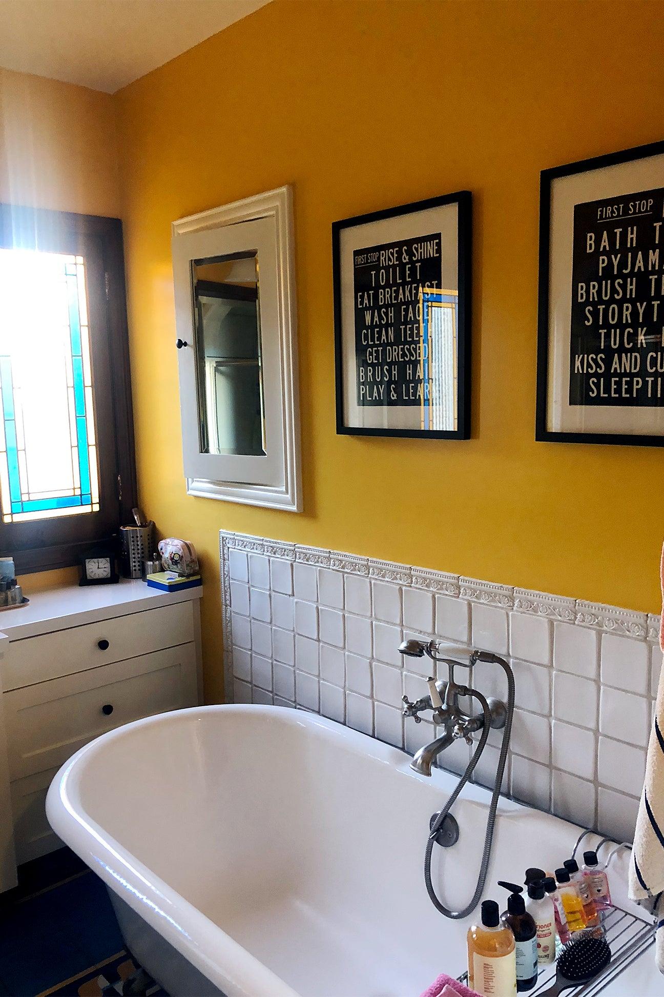 old yellow bathroom