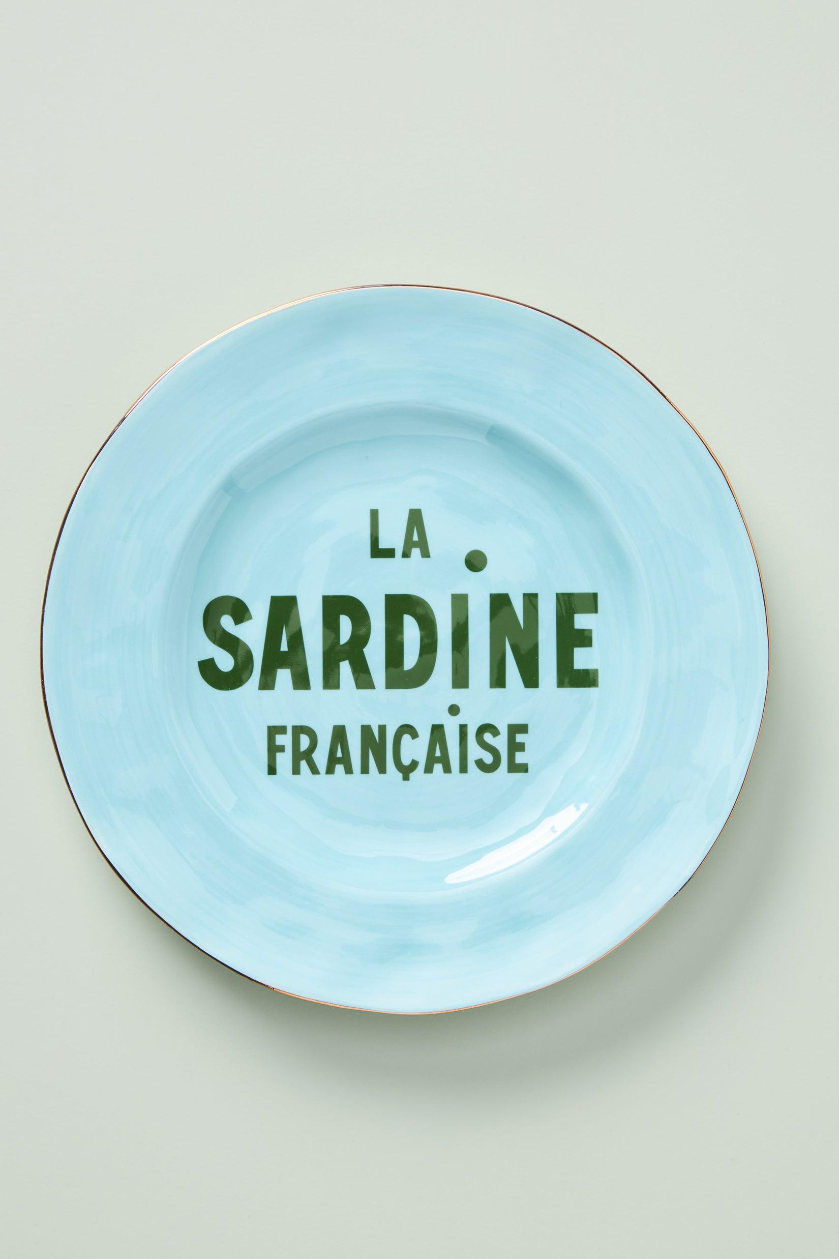 blue la sardine plate