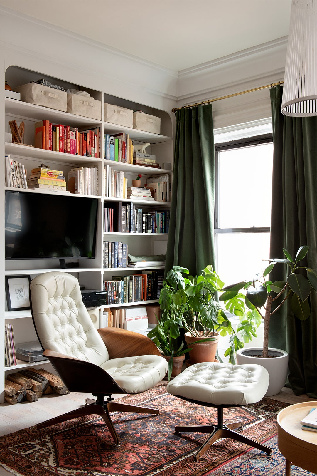 Eames-style chair in living room