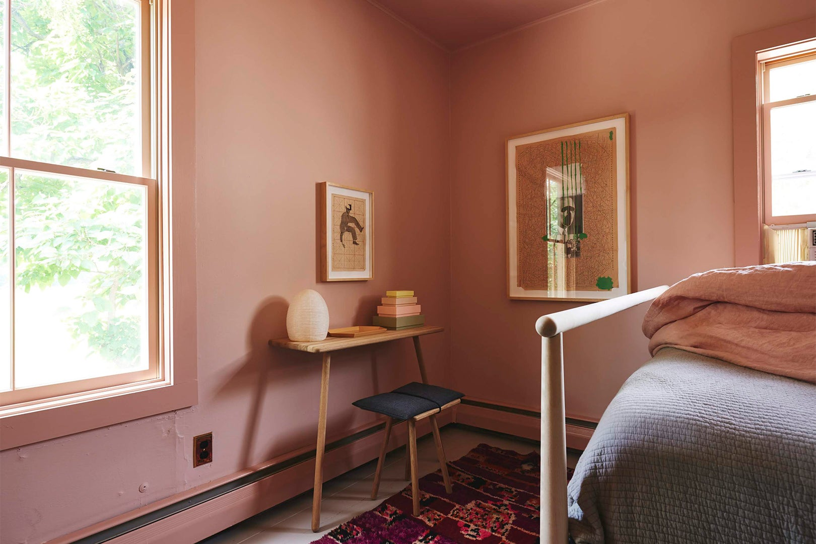 Corner of pink bedroom