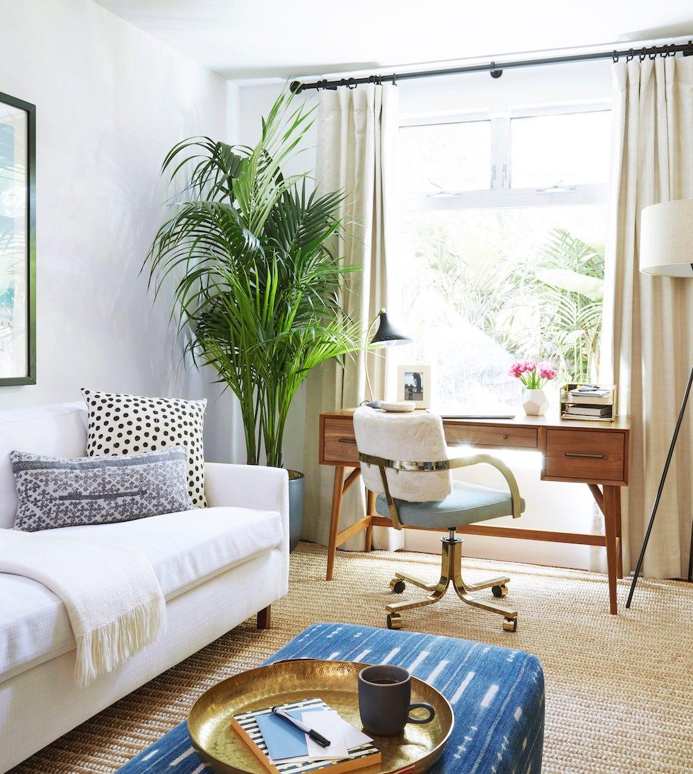 desk in a living room