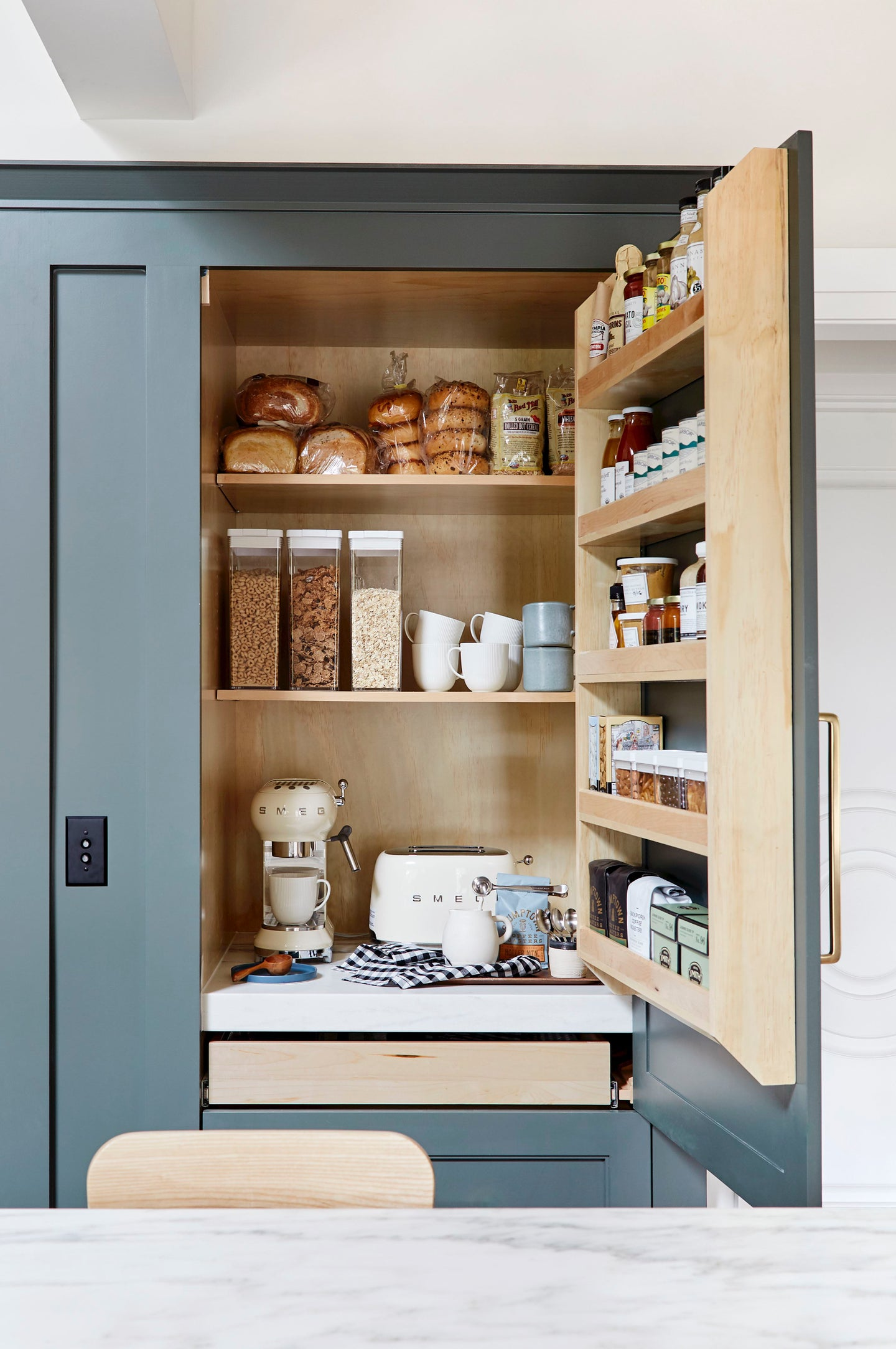 Blue pantry