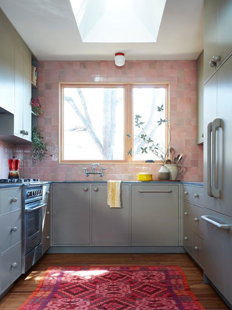 pink zeolite tiles