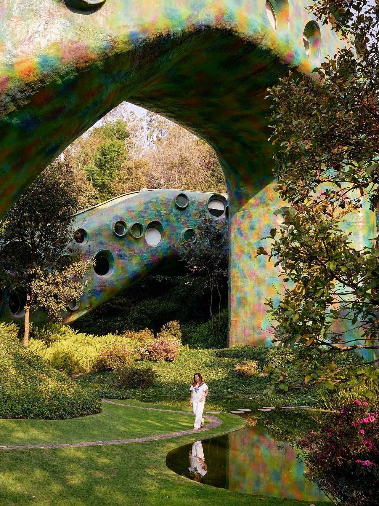 home shaped like a rainbow snake