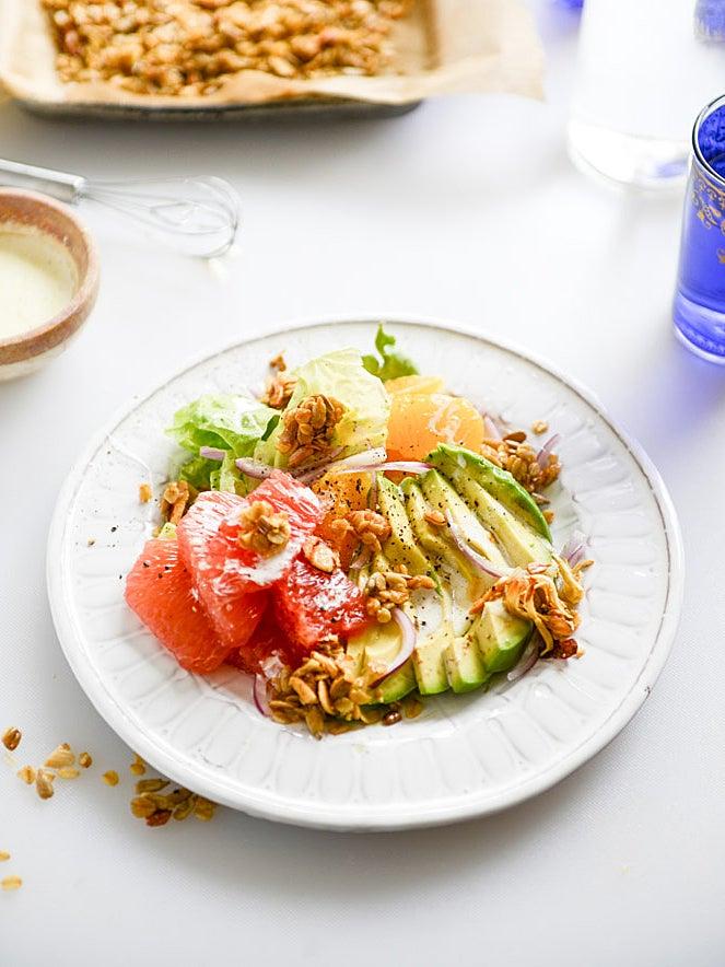 Salad with grapefruit