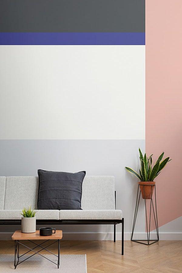 Striped colorblock wall